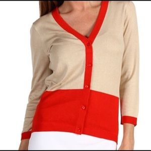 Kate Spade 'Steph' Silk Blend Cardigan. Size Small